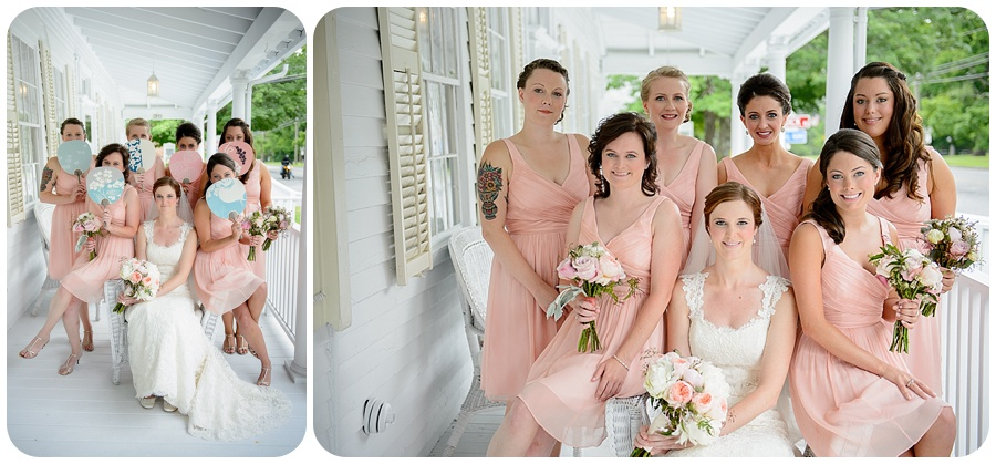 Bridesmaids - The Cottage House Porch - Lord Thompson Mannor
