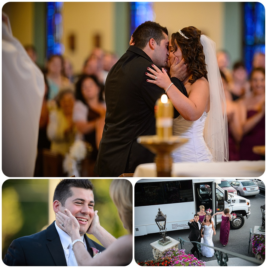 Blessed Sacrament Parish Wedding - Kiss