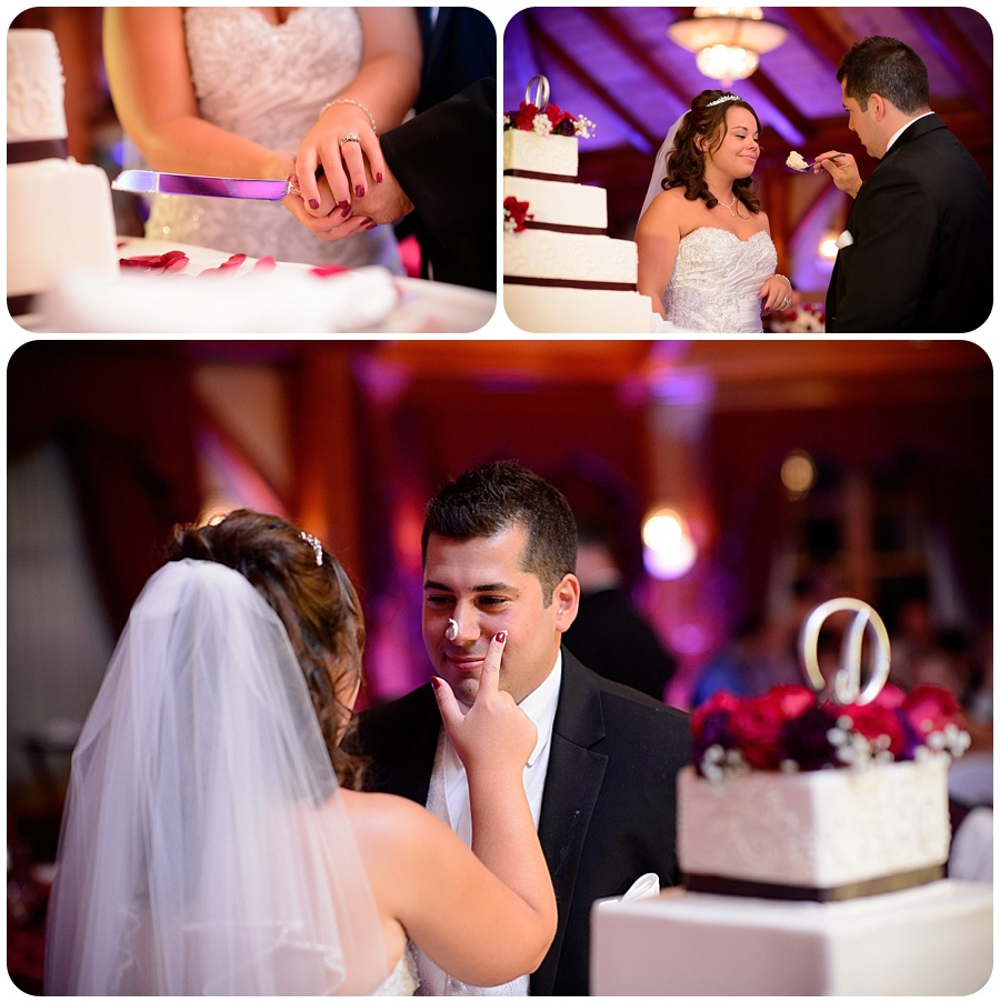 Tewksbury Country Club Wedding - Cutting the Cake